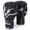 Vantage Boxing Gloves Combat Elastic - Black